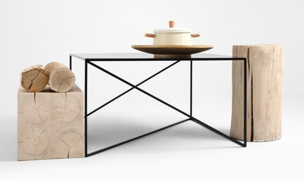 Černý konferenční stolek Custom Form Memo