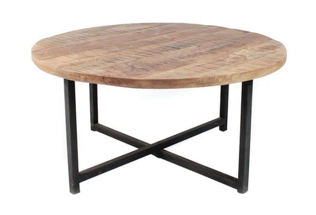 Černý konferenční stolek s deskou z mangového dřeva