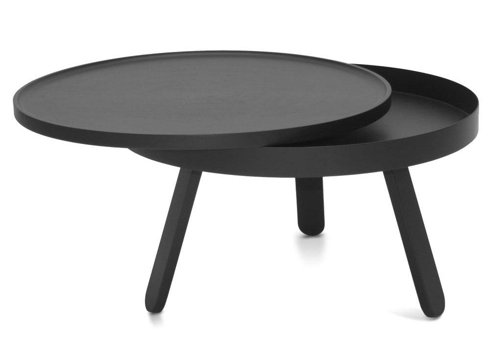 Černý odkládací stolek s úložným prostorem Woodendot Batea