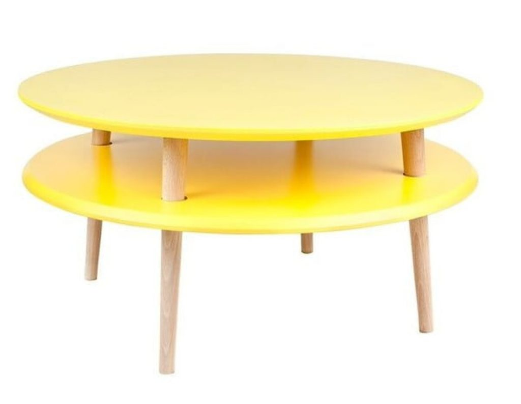 Žlutý konferenční stolek Ragaba UFO