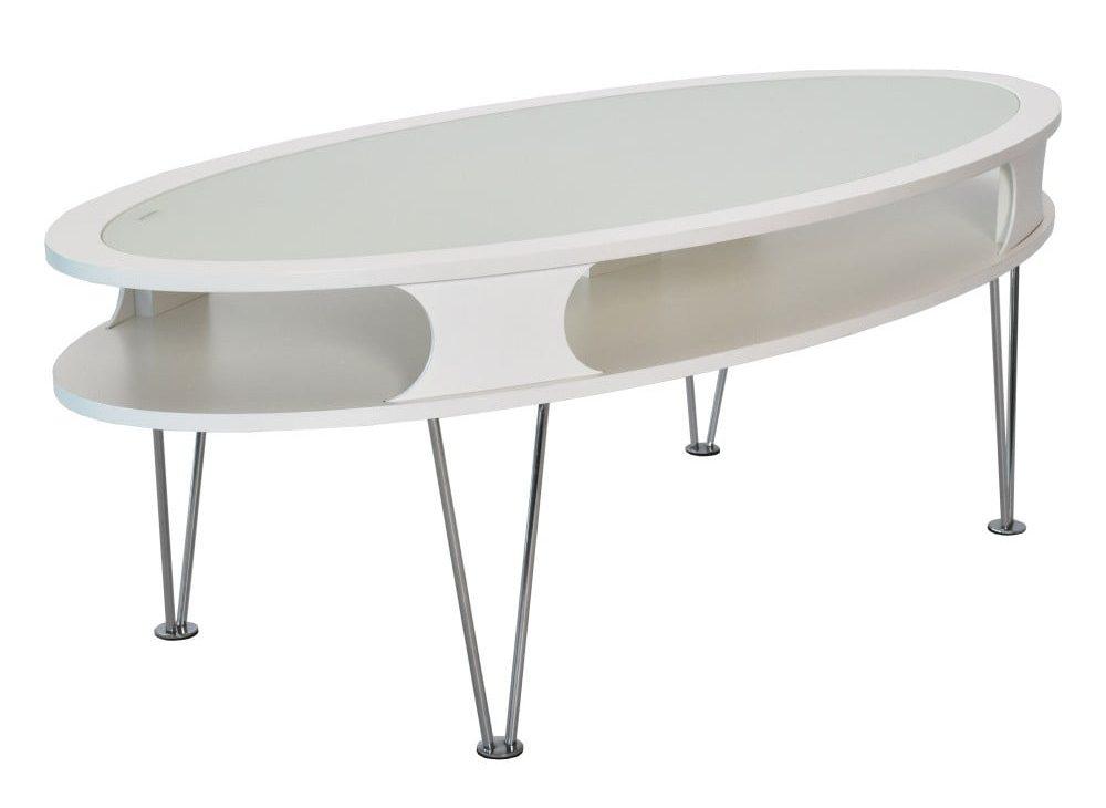 Bílý oválný konferenční stolek RGE Uppsala