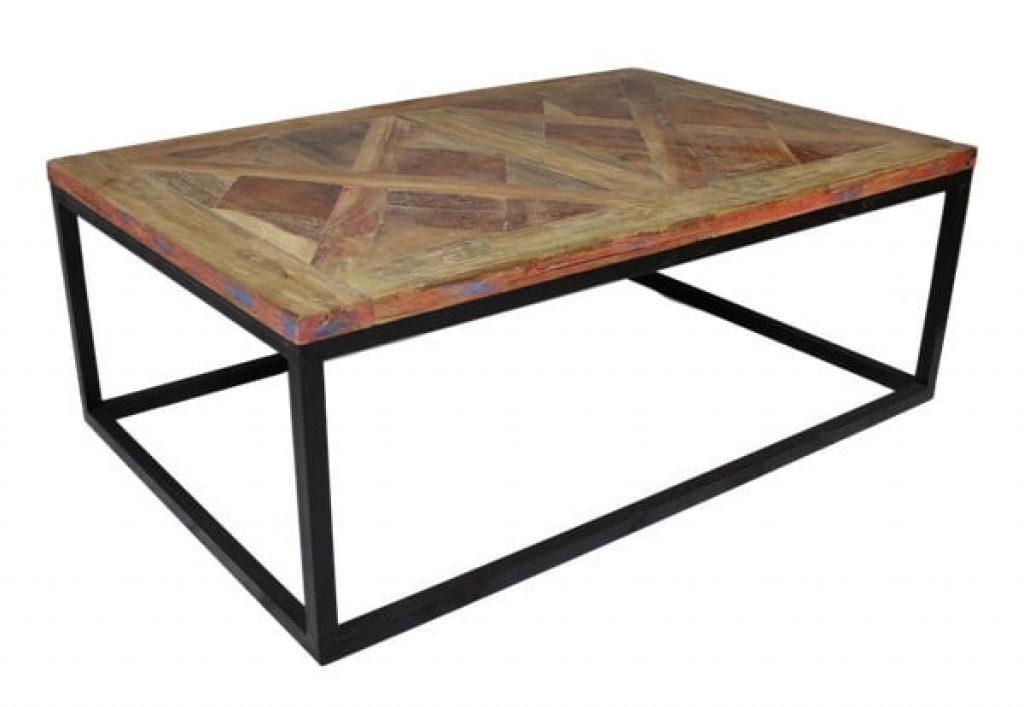 Odkládací stolek s deskou z teakového dřeva
